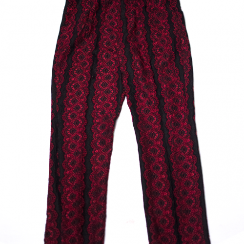 red sparrow lace trouser